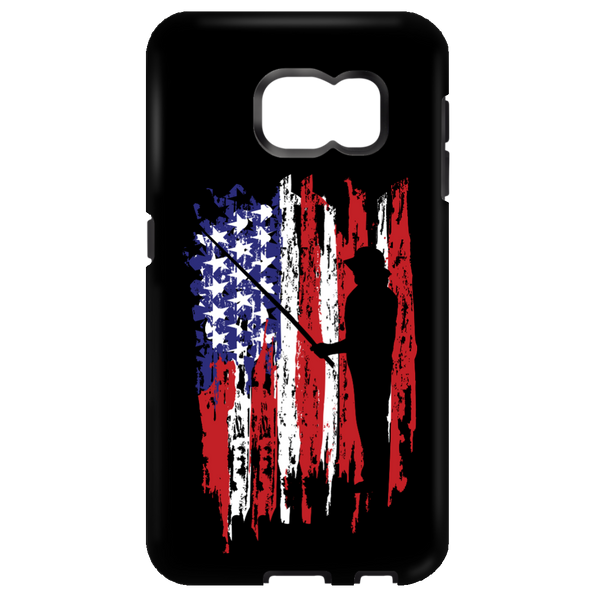Fisherman US Flag Samsung Cases