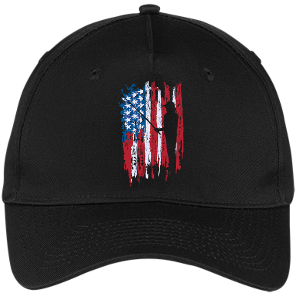 Fisherman US Flag Hat