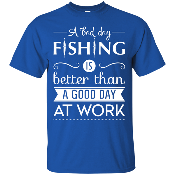 A Bad Day Fishing Shirts White Edition