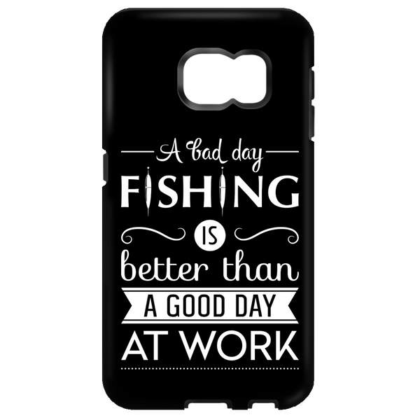 A Bad Day Fishing Samsung Cases White Edition