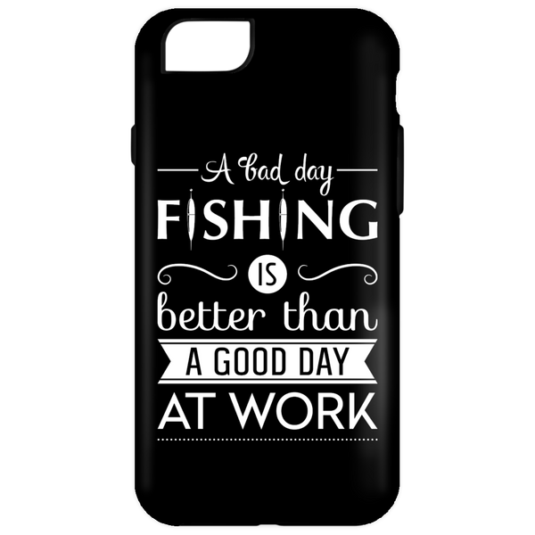 A Bad Day Fishing iPhone Cases White Edition