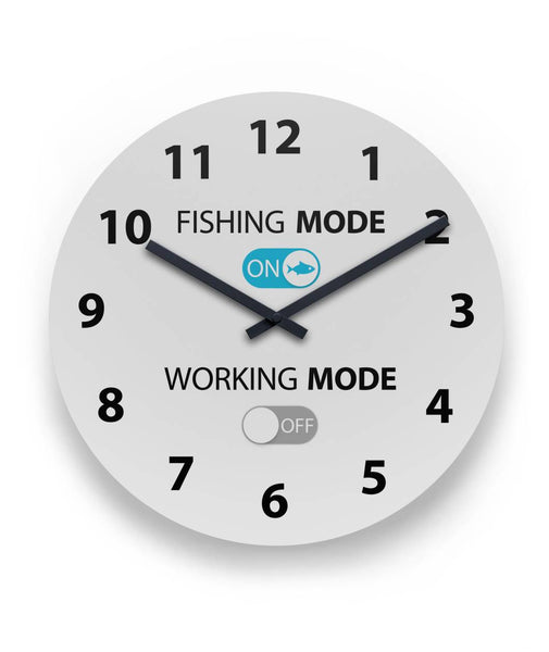 Fishing Mode On Round Wall Clock
