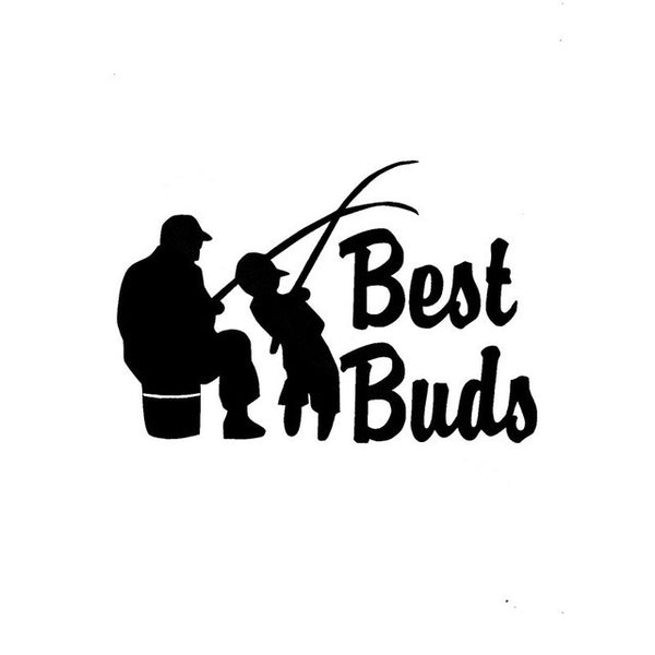 Best Buds Fishing Decal Stickers