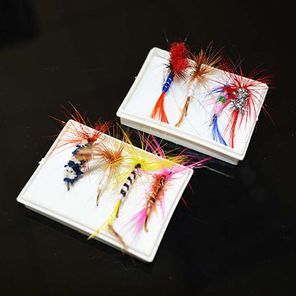 96pcs/lot Various Dry Fly Lure Set Random Color