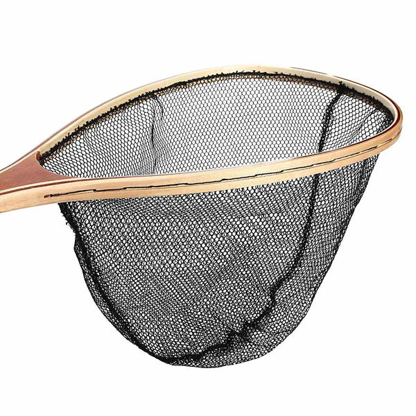 Wooden Handle Fishing Net With Small Nylon Mesh