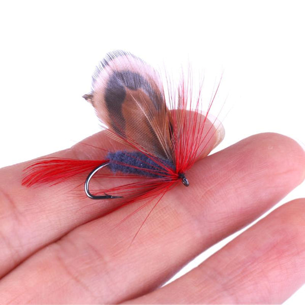 12pcs/lot Bionic Butterfly Dry Fly Lure Set