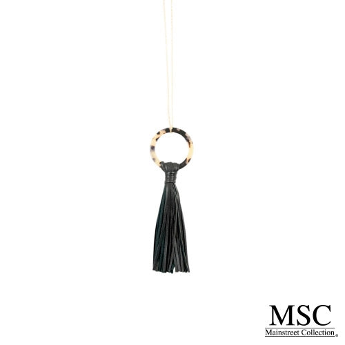 Tortoise Tassel Necklace