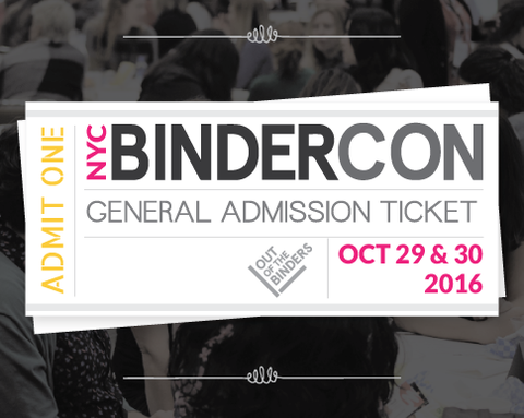 BinderCon NYC General Admission Ticket (Last Minute)