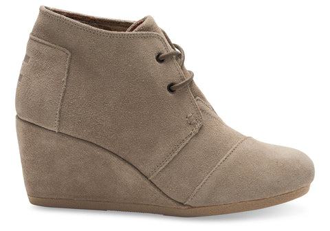 Toms Taupe Desert Wedge