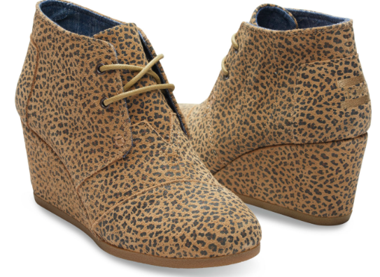 Cheetah Wedge Bootie