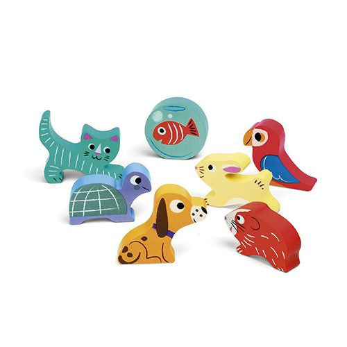 Lovely Pets Wooden Baby Puzzle