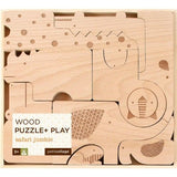 Safari Jumble Wooden Puzzle Play Set