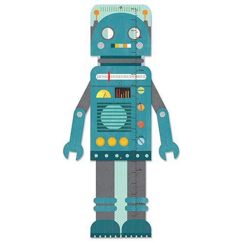 Blue Robot Foldable Growth Chart