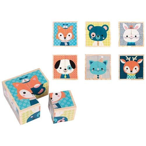 Forest Animals Blocks Wooden Puzzle