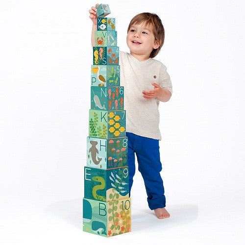 Ocean ABC Stacking Blocks