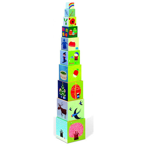 Four Seasons Square Stacking Pyramid - Stacking Toys