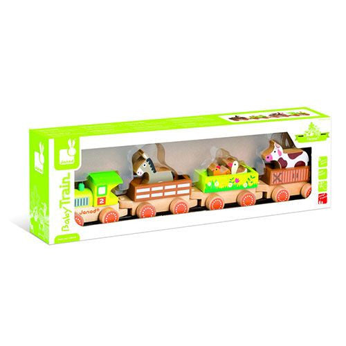 Lovely Barnyard Wooden Pull Train