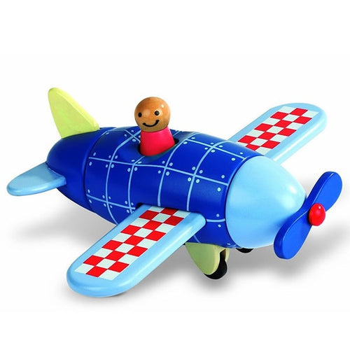 Magnetic Wooden Airplane