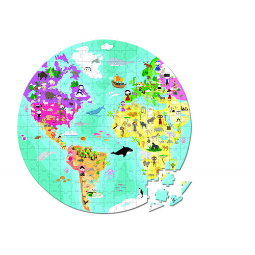 Great World Map Double Sided Jigsaw Puzzle