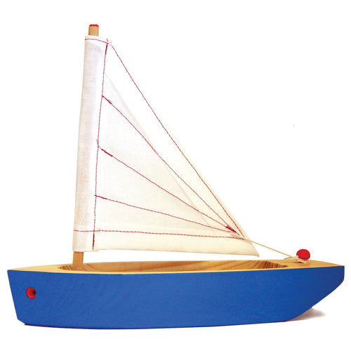 Wooden Blue Sailboat