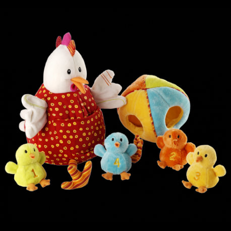 Mommy Hen and Chick Puppets