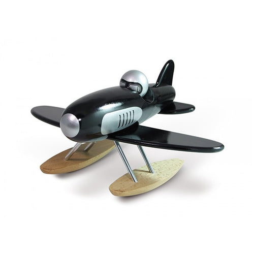 Wooden Black Seaplane