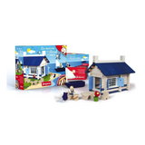Cute Cottage Wooden Building Blocks Set