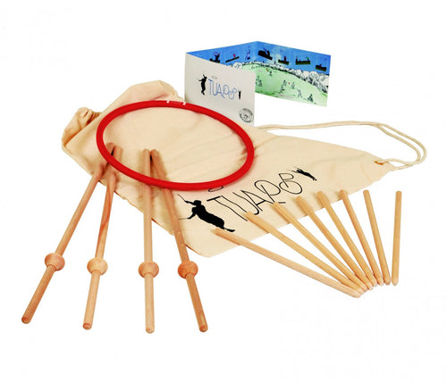 Tualoop Ring and Sticks Outdoor  Wooden Game