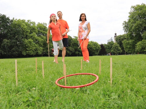 Pair of Sticks for Tualoop Ring Wooden Game