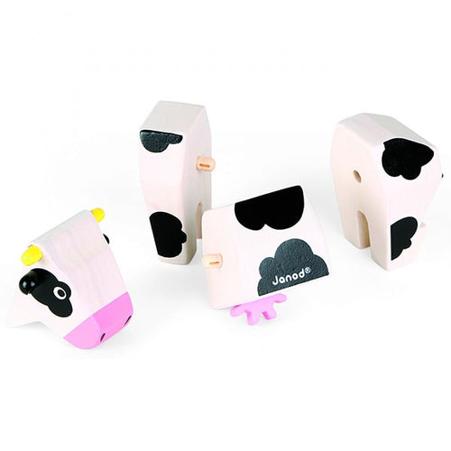 Magnetic Wooden Cow