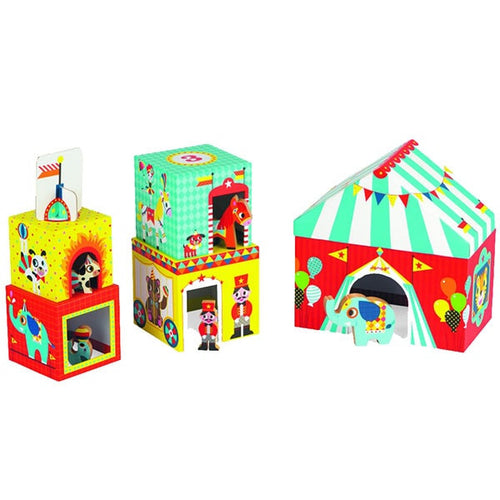 Circus Stacker with Wooden Animal Figures