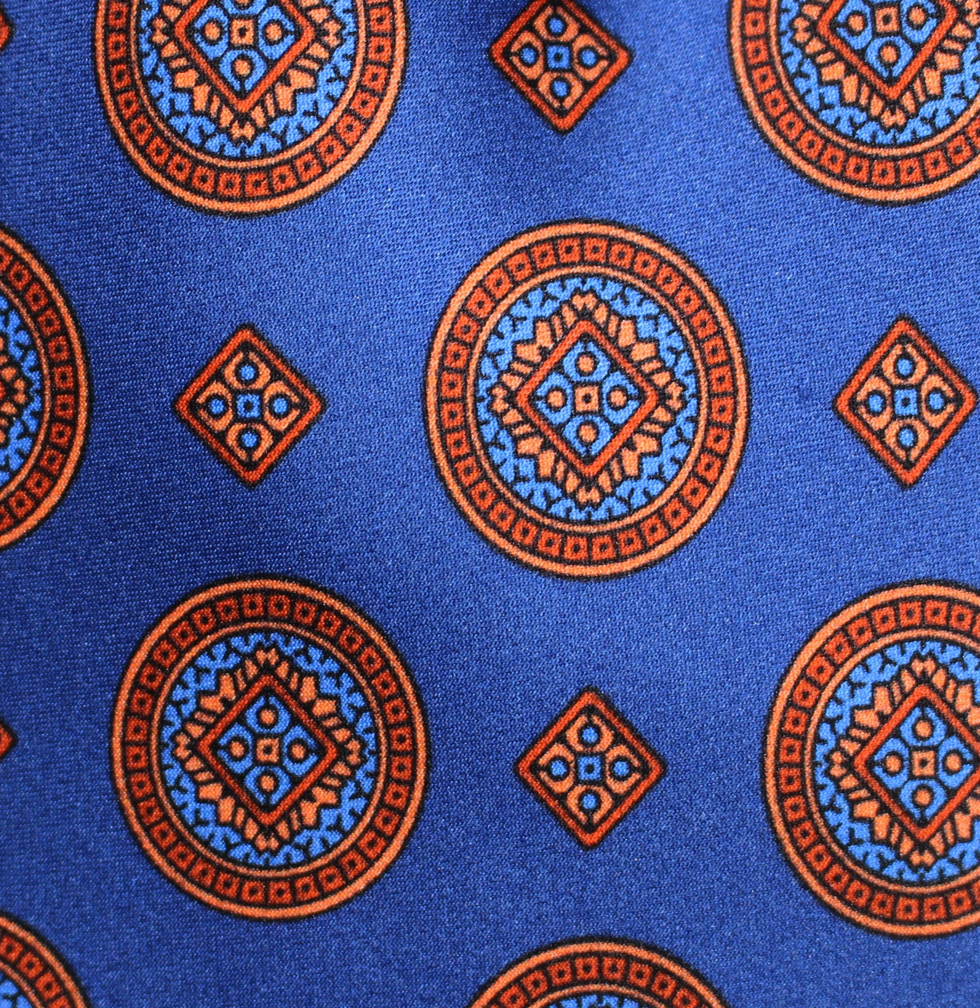 BLUE MEDALLION - Printed Silk.