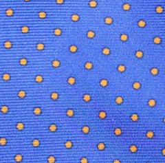 """SKY BLUE PIN DOT"" - Printed silk."