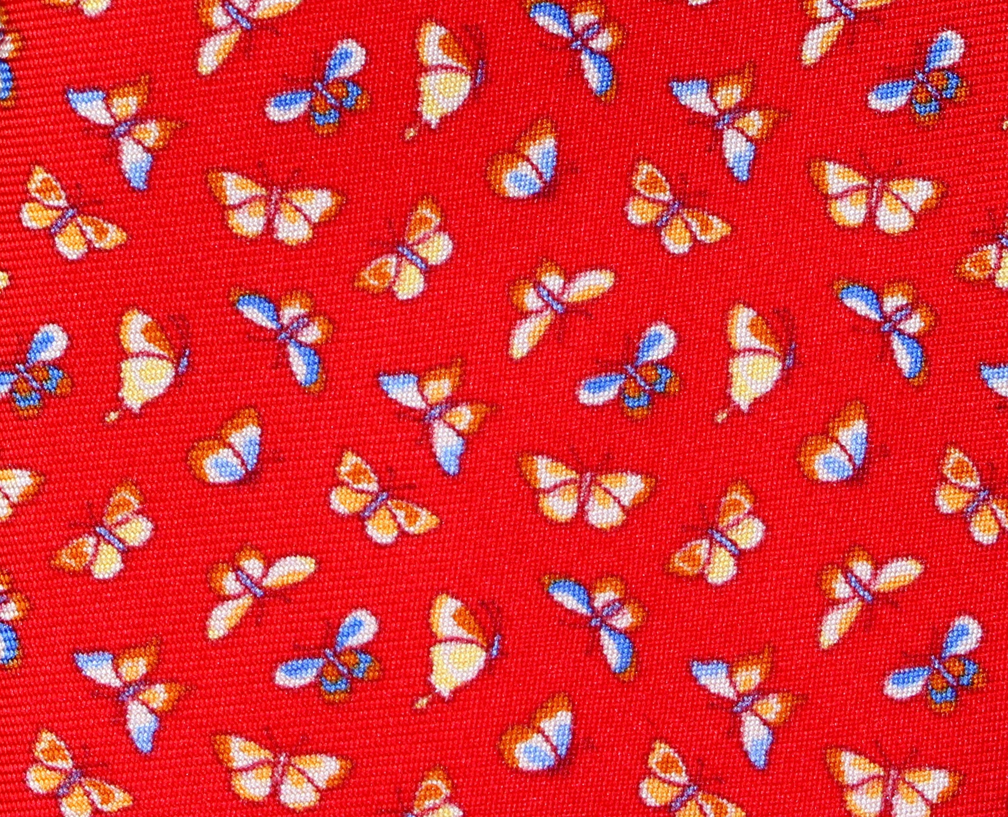 FARFALLE - Red - Printed silk necktie