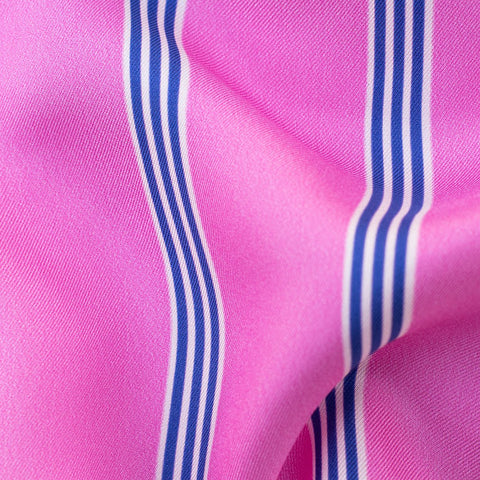 Pink with Blue Lines