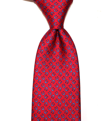 DERBY - Red -  Printed silk.