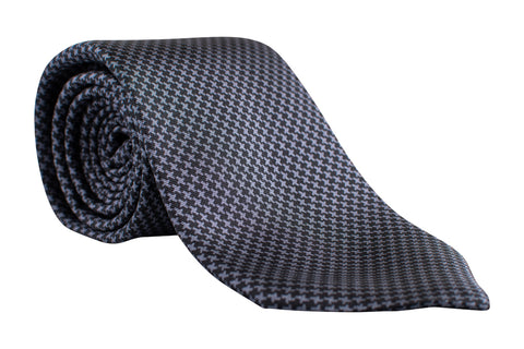 """GATSBY HOUNDSTOOTH"" - Printed silk and wool."