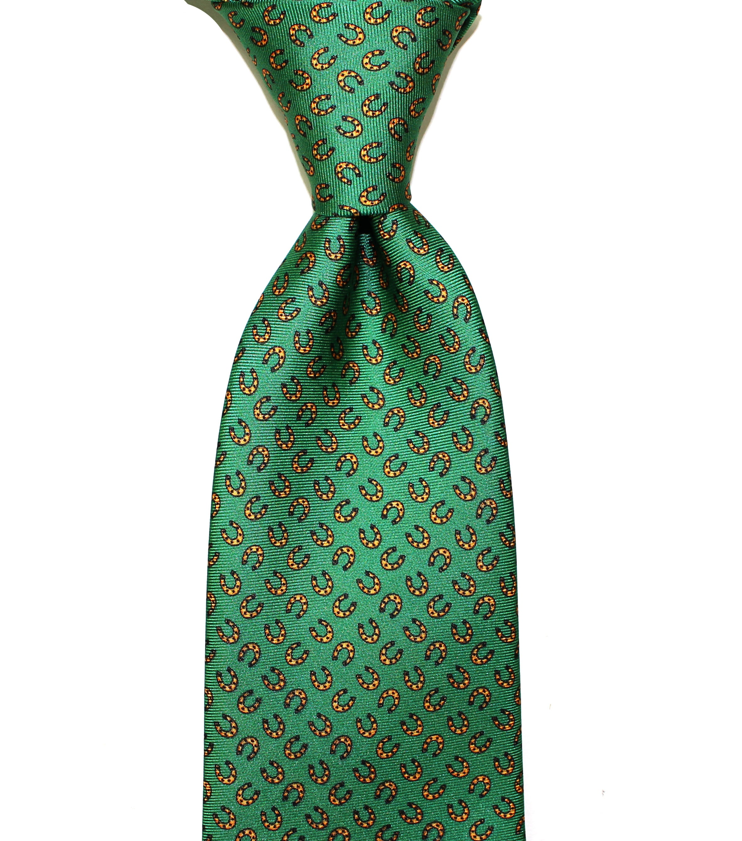 DERBY - Green -  Printed silk.