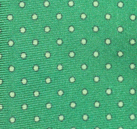 """EMERALD PIN DOT"" - Printed silk."