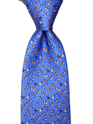 FARFALLE - Light Blue - Printed silk necktie