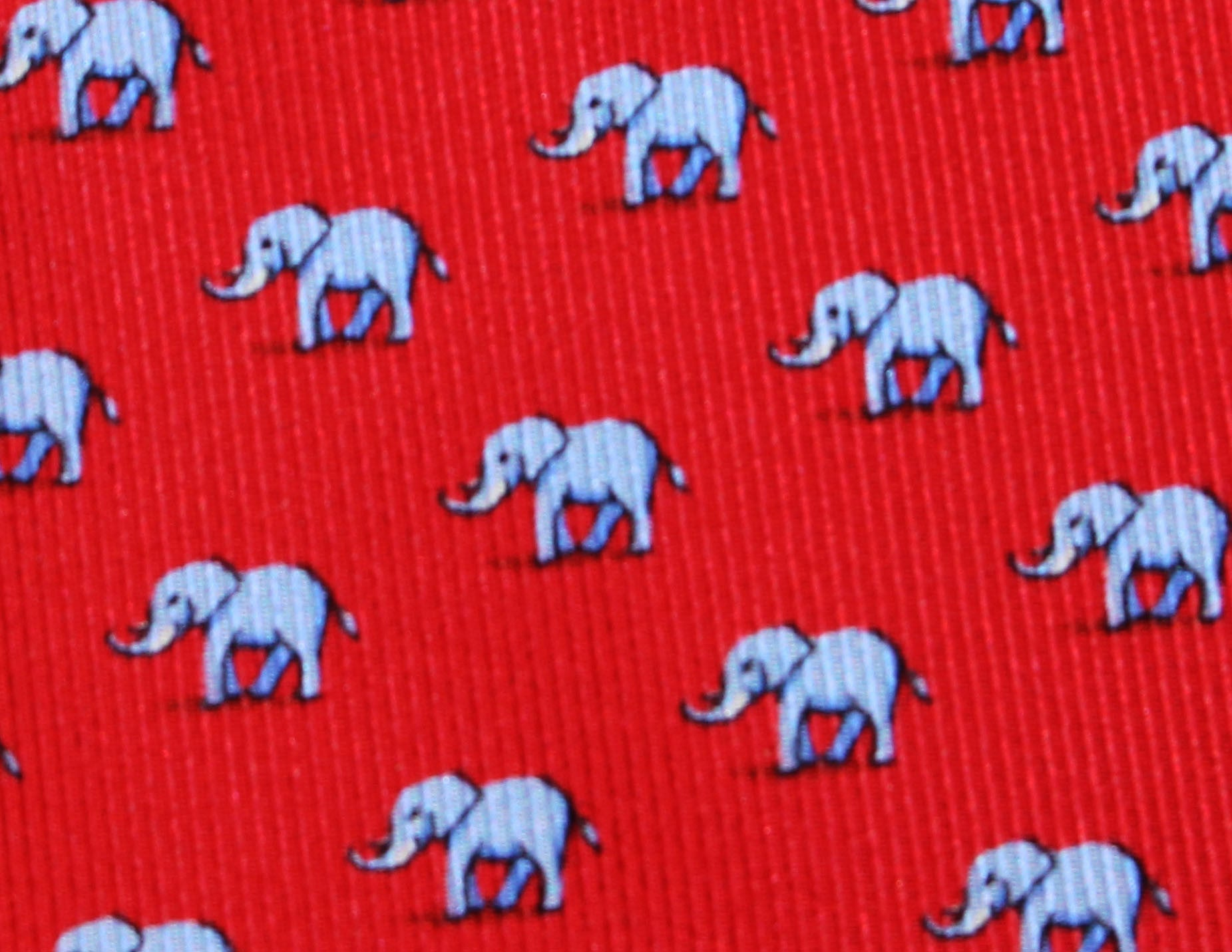 ELEFANTE - Red - Navy - Printed on 40 oz Twill - Sette Neckwear