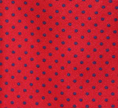 """RED NAVY PIN DOT"" - Printed silk."