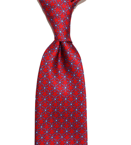 SETTE SPOKES - Red - Printed on 40 oz Twill - Sette Neckwear