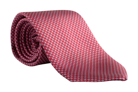 """BUCKEYE HOUNDSTOOTH"" - Printed silk and wool."