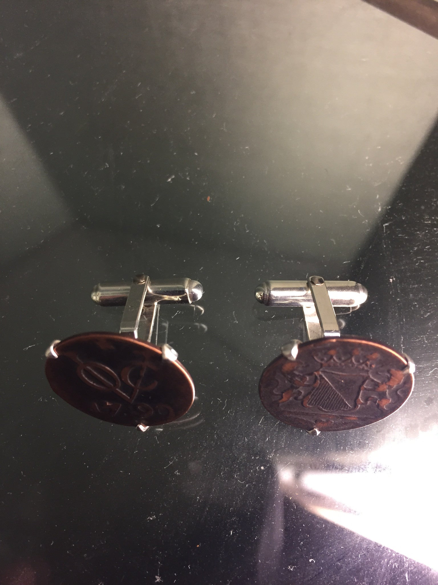 Dutch East India Company Coins - sterling silver cufflinks