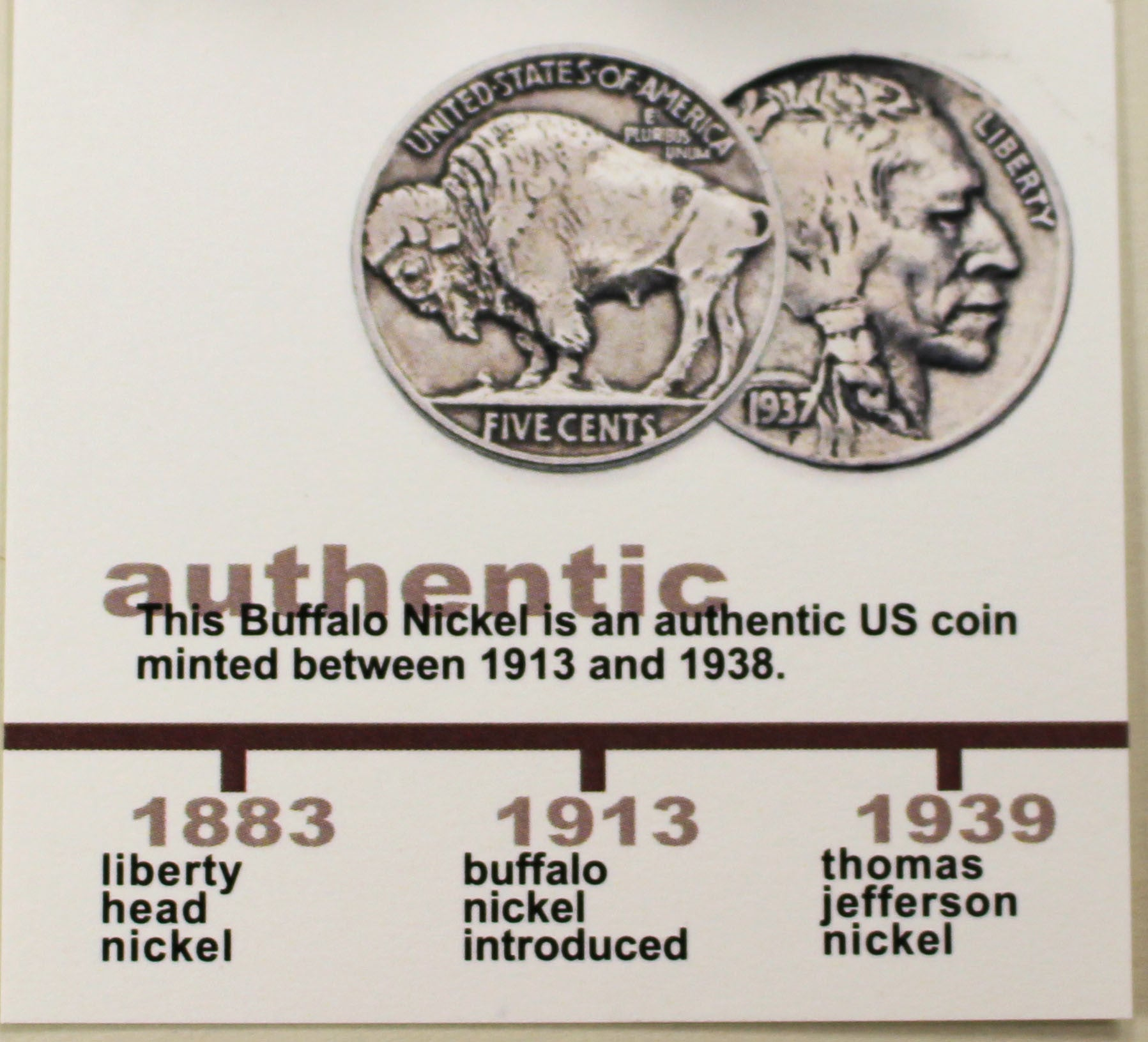 Buffalo Nickel Cufflinks - set in sterling silver.