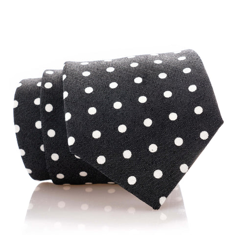 Black Denim Dot - Extra Long - 62""