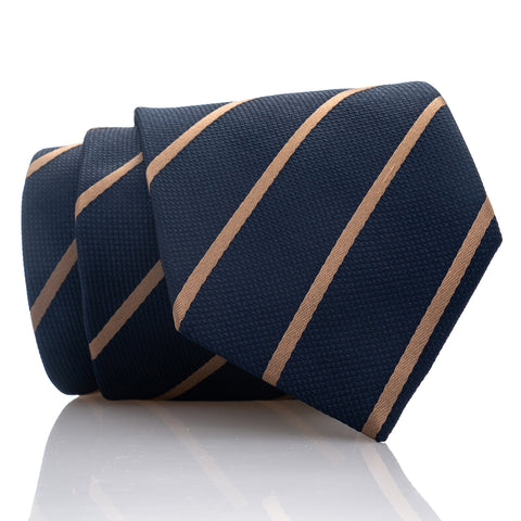 Navy Bronze Stripe - Skinny