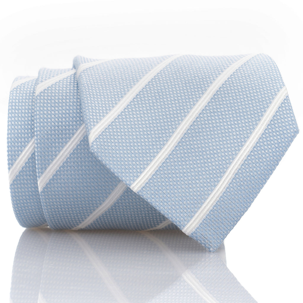 Soft Blue Checkered Stripe - Standard