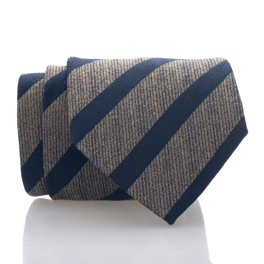 Gold Navy Stripe - Standard